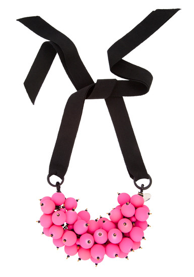 Melissa Curry Pink Rubber Bon-Bon Collar