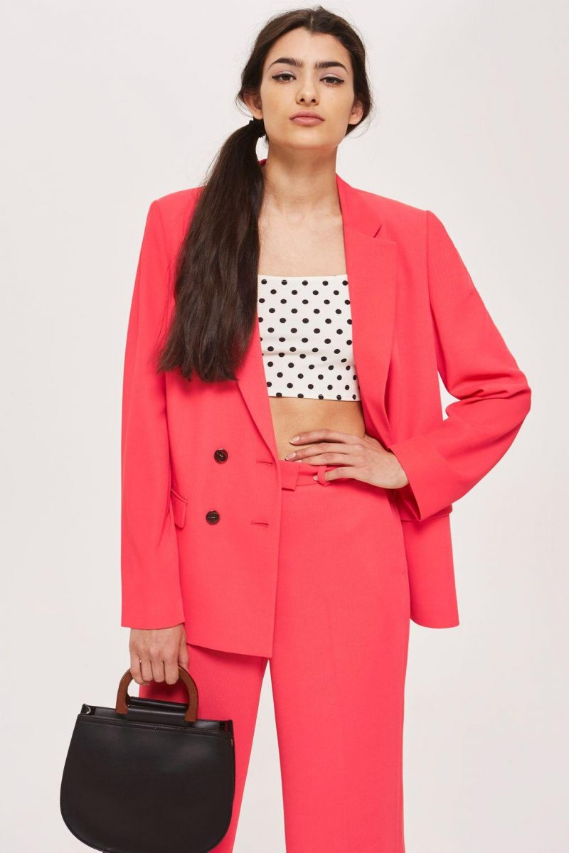 Topshop coral Slouch Suit Blazer