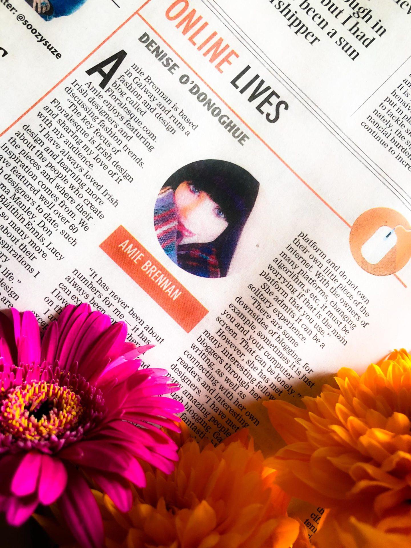 Floralesque Irish Examiner Feature