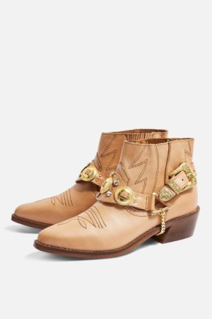 Topshop Pointed Western Boots