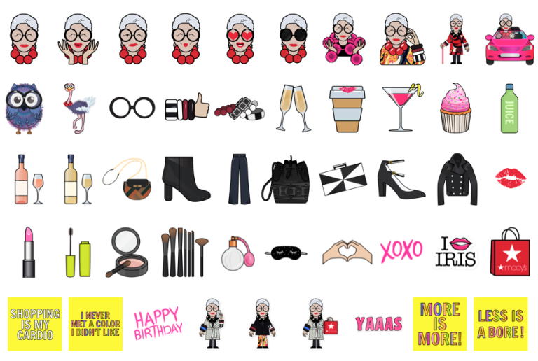 Iris Apfel Emojis are here and they are everything Floralesque 5